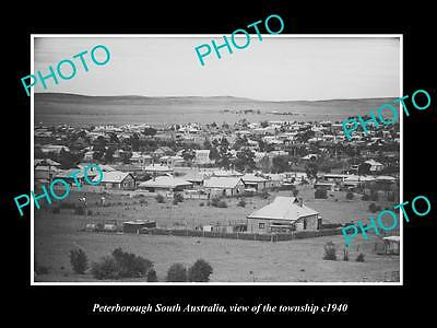 OLD LARGE HISTORIC PHOTO OF PETERBOROUGH SA, VIEW OF THE TOWNSHIP c1940