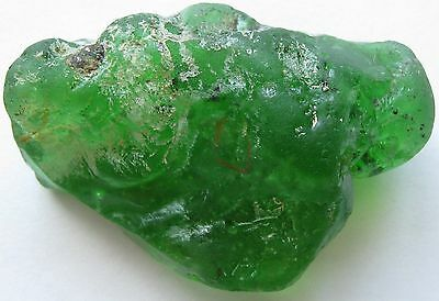 Bonfire Glass Beach Sea 1 Pc Large Green Nugget Authentic Surf Tumbled Crafts