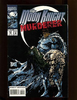 Marc Spector Moon Knight #59 VF+ Stephen Platt Cover Next to Last Issue