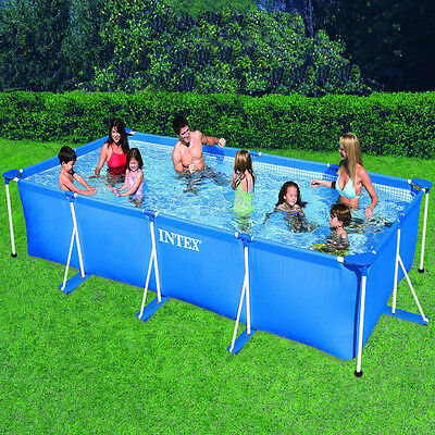 Piscina (Intex 28273NP) 450 x 220x84cm Desmontable Lona Rectangular 7127L Verano