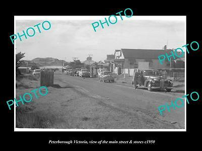 OLD LARGE HISTORIC PHOTO OF PETERBOROUGH VICTORIA, THE MAIN St & STORES c1950