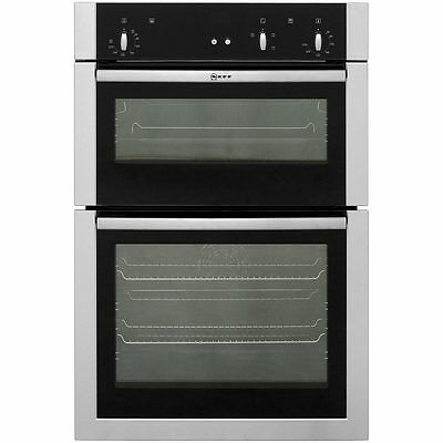 Neff U14S32N5GB Built In Electric Double Oven 59cm Double Cavity Stainless