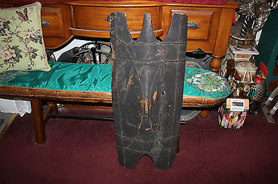 Antique Philippine Tribal Wood War Shield-Igorot Bontoc Ifugao Bulol-Headhunter