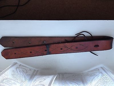 Western Harness Stitched Leather Off Billet