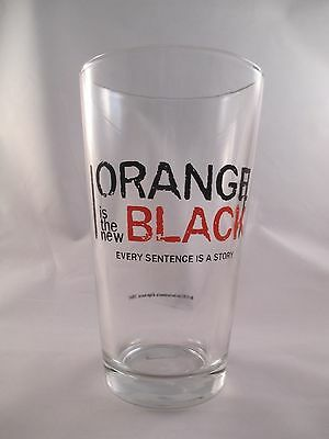 Orange is the New Black ~ 16 oz. Glass ~ ICUP