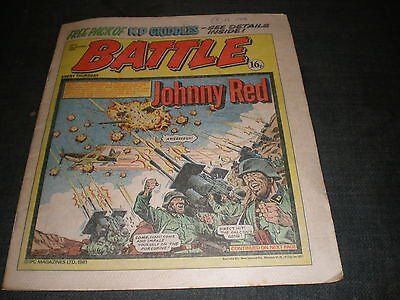Vintage Battle Comic Book - 26Th September 1981 Birthday Idea