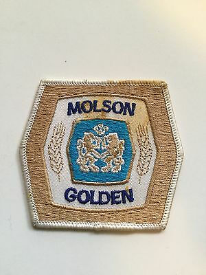 Molson Golden rare 3x3 beer patch 1970s