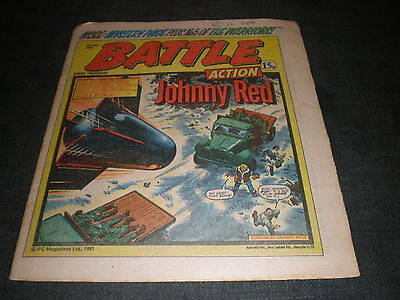 Vintage Battle Comic Book - 4Th July 1981 Birthday Idea