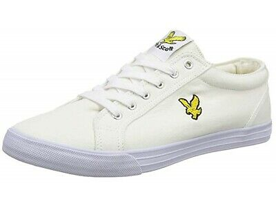 Lyle & Scott Mens Trainers Lyle and Scott Halket Canvas Shoes Pumps - White