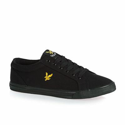 Lyle & Scott Mens Trainers, Lyle and Scott Halket Canvas Shoes Pumps - Black