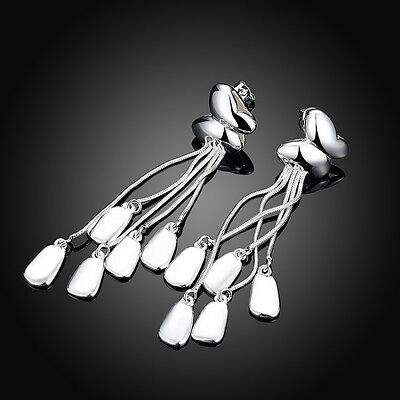 Women/Girls 925 Sterling Silver Earrings Crystal Earrings Drop/Dangle Earrings