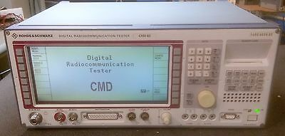 Rohde & Schwarz CMD60 DECT Digital Radio Tester with B1 B3 B4 B6 B41 B44 B61