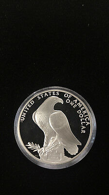 1984 Olympic Commemorative $1 Silver Proof Coin