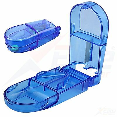 Job Lot 1000 x Pill Cutter Splitter Storage Compartment Box Medicine Tablet