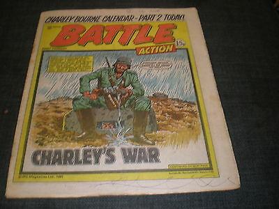 Vintage Battle Action Comic Book - 10Th January 1981 Birthday Idea