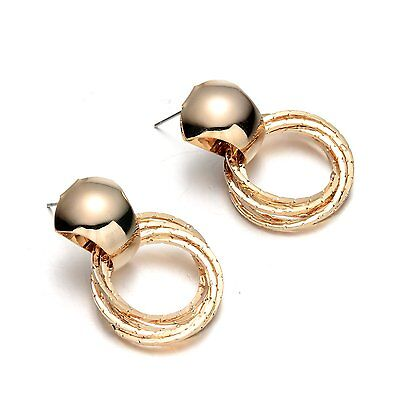 Girl Fashion Gold Plating Stud Earrings Jewelry Special Hoop Jewellery