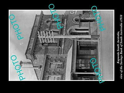 OLD LARGE HISTORIC PHOTO OF KAPUNDA SOUTH AUSTRALIA, THE SAVINGS BANK c1910