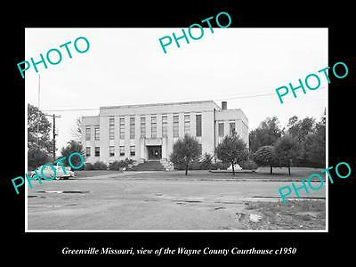 OLD LARGE HISTORIC PHOTO OF GREENVILLE MISSOURI, THE COUNTY COURT HOUSE c1950