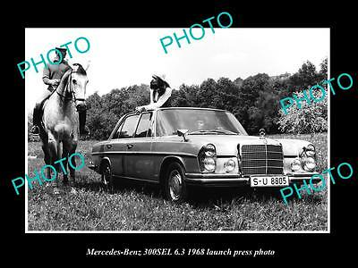 Old Large Historic Photo Of 1968 Mercedes Benz 300Sel 6.8 Launch Press Photo 2
