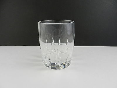 """Lenox Crystal Firelight Double Old Fashioned Clear Cut 4"""" T ca 1989-2010 TM"""