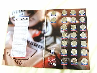 Official England World Cup Squad Medal Collection 1998 complete vgc