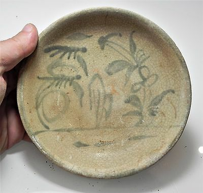 Zurqieh - Ancient Islamic. Glazed Ceramic Bowl. 1000 - 1400 A.d