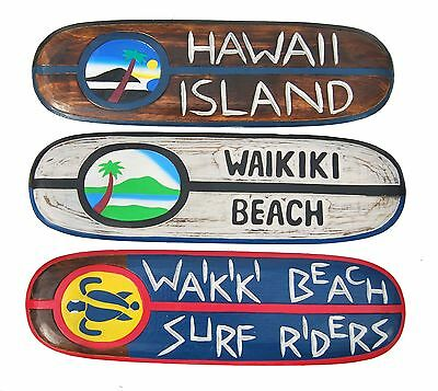 Surfboard 60cm 3er Set 3 Surfbretter Surfboards TIKI Waikiki Beach Hawaii Island