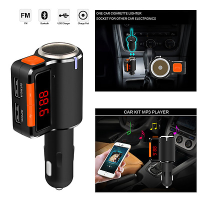 Bluetooth Auto FM Transmitter SD/MMC/USB MP3 Musik Player Freisprechanlage KFZ