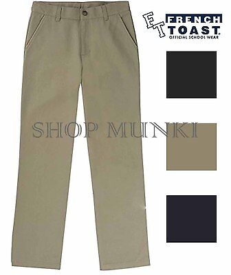 French Toast Boys Official Schoolwear Uniform Khaki Pants with Adjustable Waist