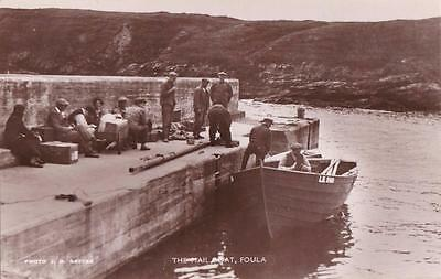 RP FOULA HARBOUR MAIL BOAT  SHETLAND SCOTTISH ISLES RATTAR R PHOTO c1934