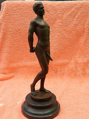 bronze figurine. Nude study. possible gay interest by Mario Nick