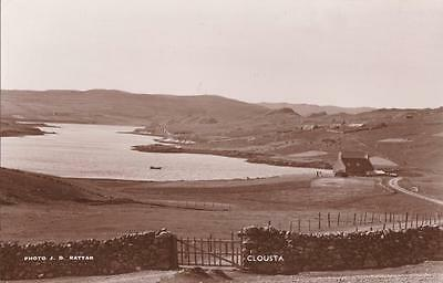 RP CLOUSTA HAMLET / CROFT  SHETLAND SCOTTISH ISLES RATTAR LERWICK  R PHOTO c1934