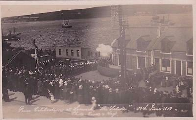 Rp Lerwick Peace Celebrations Royal Navy Shetland Scottish Isles  R Photo 1919