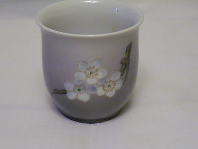 Bing and Grondahl 1958-1962 porcelain small cup vase apple blossom decor