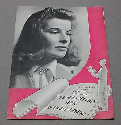 1939 The Philadelphia Story Broadway Play Theater Program w/ Katharine Hepburn