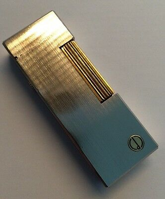 Dunhill 'Brushed Steel & Gold' Lighter - Completely Overhauled & Fully Serviced