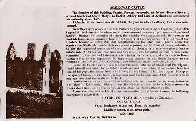 RP SCALLOWAY CASTLE RUINS SHETLAND SCOTTISH ISLES BY INKSTER REAL PHOTO c1934