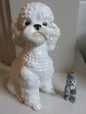 Vintage Poodle Ornaments/Figurines - SylvaC 5031 & Wade Fifi from Bengo TV Show