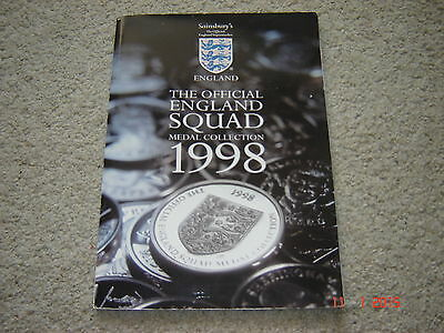 RARE. England Football World Cup 1998 Sainsbury's medal collection. COMPLETE