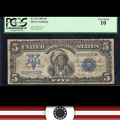 1899 $5 Silver Certificate *CHIEF* PCGS 10  Fr 272    B22991213