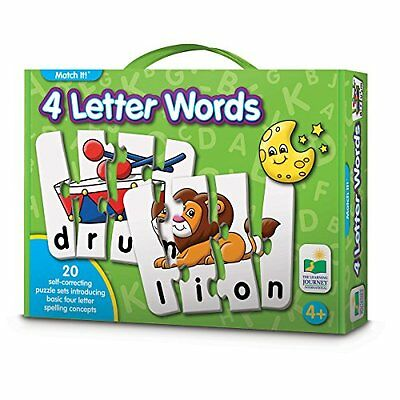 The Learning Journey Match It! 4 Letter Words, New, Free Shipping