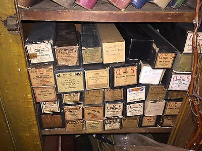 Approximately 100 Player Piano Rolls With Boxes
