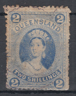 Queensland QV 2s bright blue; SG 152; Average Mounted Mint; CAT £225; see scans