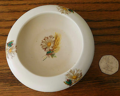 Purbeck Ceramics ashtray or pin dish Flowers Corn vintage English pottery