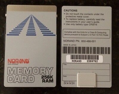 Norand 256k Memory Ram Card for the HP 48GX / TDS SMI Survey Data Collectors