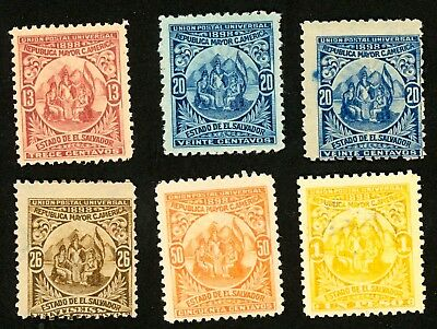 1898 El Salvador Stamps #183-188 All: MINT,  H/HR