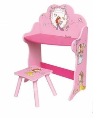 Kids Table and Chair Pink Childrens Toodler Girls Drawing Activity Play Desk