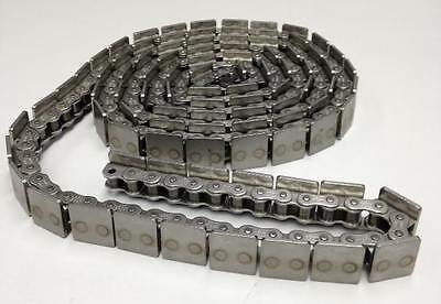 "UST 40AS #40 Stainless Steel Roller Chain w/ Square Top Plate 7' 8"" 7FT 8IN NEW!"