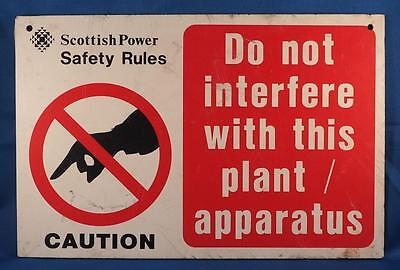 Vintage Scottish Power Do Not Interfere Sign