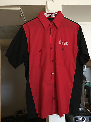 Coca-Cola Employee Coke Delivery Driver Uniform Shirt Size Large SS (L-SS)